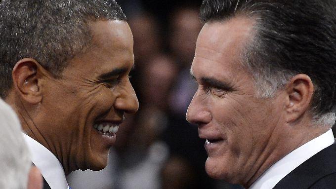 Bei einem Patt würde Romney (r.) Präsident, Obamas Zeit wäre vorbei.