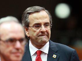 Chef einer wackeligen Koalitionsregierung: Antonis Samaras.