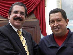 Politische Freunde: Zelaya (l) und Chávez.