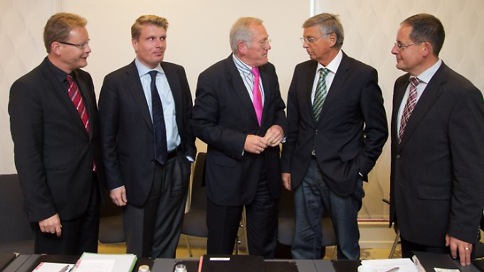 Speerspitze des Konservatismus: Die Unionspolitiker Thomas Dörflinger, Thomas Bareiß, Christean Wagner, Wolfgang Bosbach und Steffen Flath.