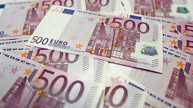 500-Euro-Scheine werden erst in einigen Jahren ausgetauscht.