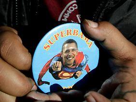 "Kryptonit als Kraftgeber - oder per ""Superbama""-Anstecker."