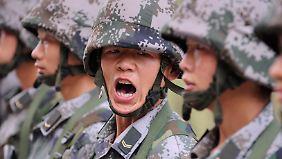 Militärisch ist China noch lange nicht so stark wie die USA und ihre Verbündeten.
