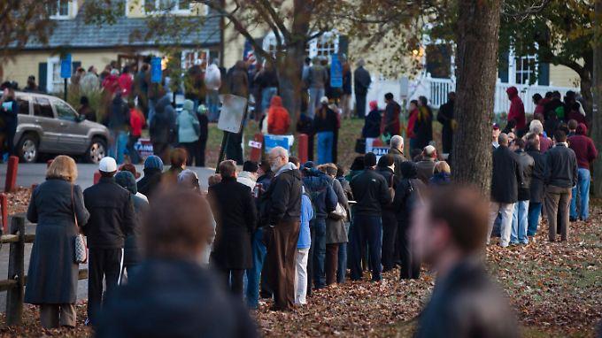 Amerika wählt: Kopf-an-Kopf-Rennen erwartet