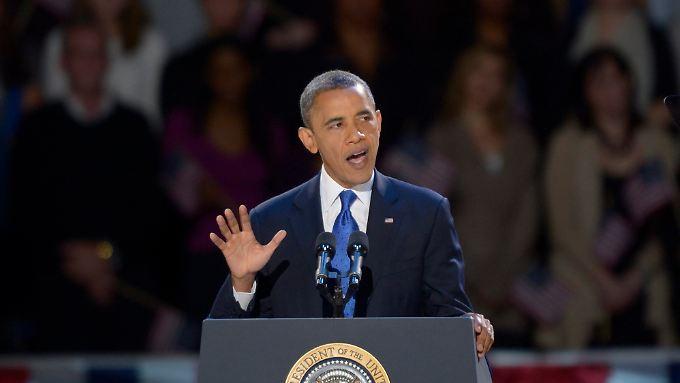 """""""Wir steigen auf oder fallen als eine Nation, als ein Volk"""", sagt Obama."""