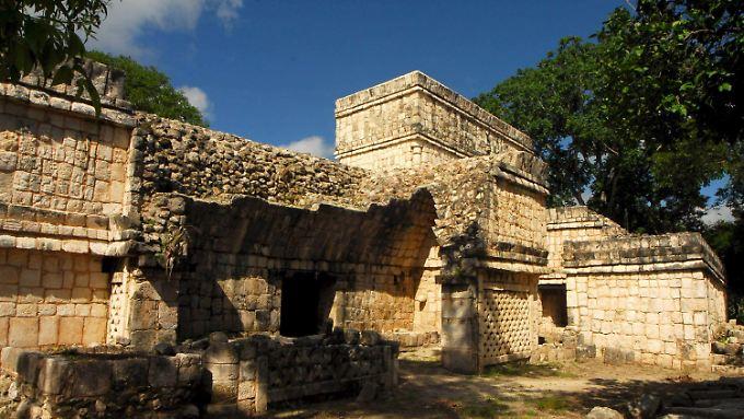 In Zeiten mit viel Regen erblühte die Maya-Kultur. (Maya-Wohnhaus, Yucatan)