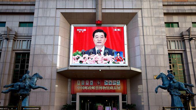 Sein letzter Parteitag als Staats- und Parteichef: Hu Jintao.