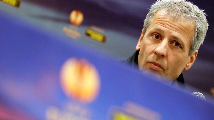 """""""Jeder kann die Tabelle lesen"""": Mönchengladbachs Trainer Lucien Favre."""