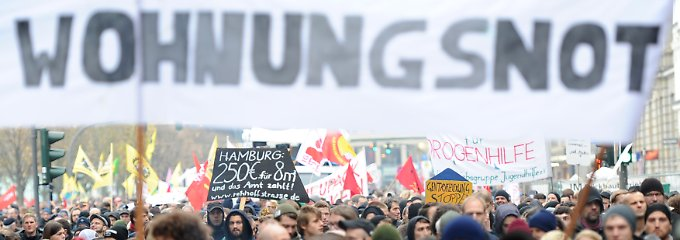 Protestaktion in Hamburg: Gr