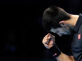 Siegerfaust nach hartem Kampf: Novak Djokovic musste in seinem WM-Halbfinale zeigen, was er kann.