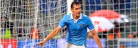 Nach 43 Minuten lag der Ball zum zweiten Mal im Lazio-Tor, dank Miroslav Klose.