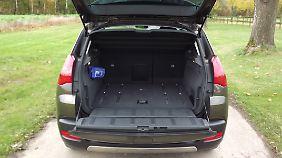 Der Kofferraum im Hybrid 3008 hat lediglich 377 Liter Fassungsvermögen.