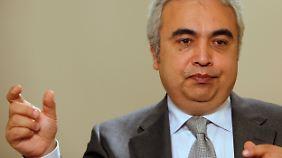 IEA-Chefökonom Fatih Birol malt ein düsteres Bild.