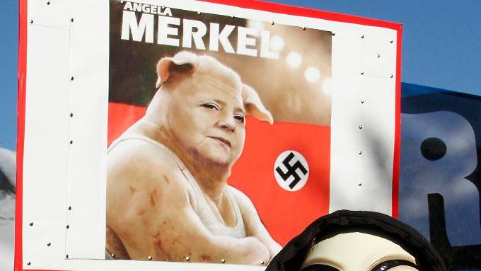 Keine schönen Bilder, die sich Merkel in Portugal anschauen muss.
