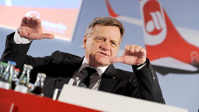 Hartmut Mehdorn führt die Fluggesellschaft seit 2011.
