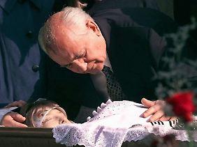 Trauer um seine geliebte Frau 1999.