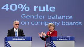Reding fordert, dass 40 Prozent der  Aufsichtsratsposten in großen börsennotierten Unternehmen bis 2020  mit Frauen besetzt sein sollen.