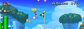Super Mario hüpft jetzt auf zwei Bildschirmen gleichzeitig.