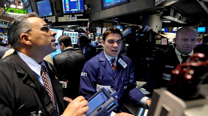 Viel los an der Wall Street