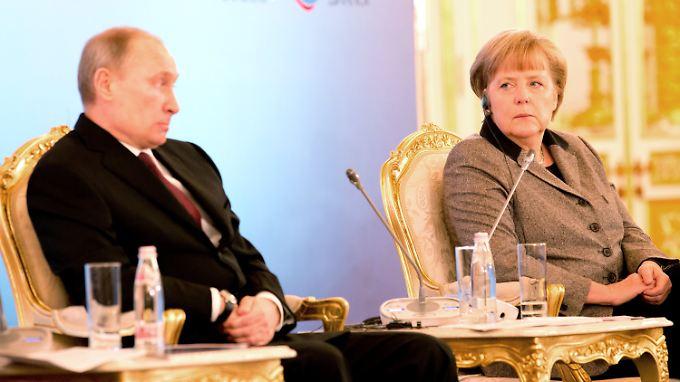 Die Worte von Angela Merkel dürften Wladimir Putin nicht gefallen haben.