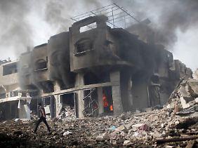 Zerstörtes Gebäude in Gaza-Stadt.