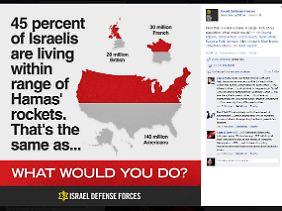 Grafik vom Facebook-Konto der israelischen Armee.