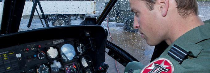 Darf gezeigt werden: Prinz William bei der Arbeit.