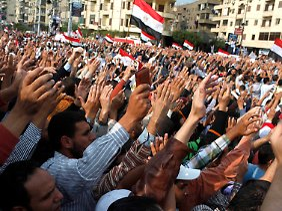 Pro-Mursi-Kundgebung vor dem Präsidentenpalast.