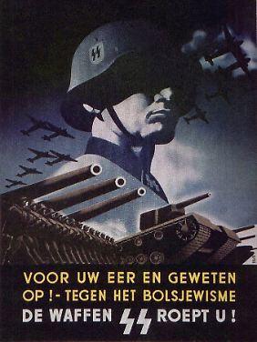 """""""Für Ihre Ehre und Ihr Gewissen. Auf! Gegen den Bolschewismus. Die Waffen-SS ruft Sie!"""" (Foto: Wikipedia)"""