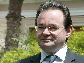 Griechenlands Finanzminister Papakonstantinou rechnet fest mit Hilfen.