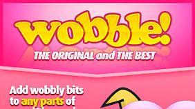 """Bei """"Wobble"""" wackeln nur in der Werbung keine Brüste mehr."""