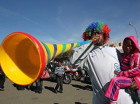 Nervtötend und allgegenwärtig: Die Vuvuzela ist ein lautes Stück Afrika.