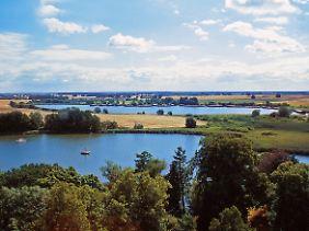 Nationalpark Müritz: eine Landschaft mit vielen Seen.