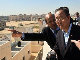 Ban bei einem Besuch des Gaza-Streifens im März dieses Jahres.