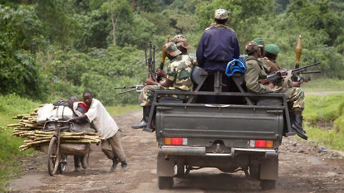 Die Rebellen der M23-Miliz verließen aus Protest gegen die schlechten Lebensbedingungen das Militär.