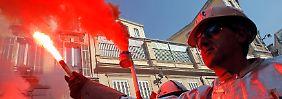 Proteste französischer Stahlarbeiter: Arcelor Mittal bekommt Feuer.