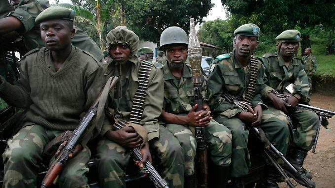 Kongolesische Regierungssoldaten (Archivbild).
