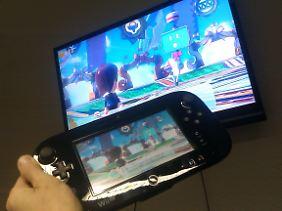Groß, aber handlich: Das Gamepad mit eigenem Bildschirm. (Foto: Roland Peters)