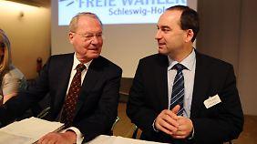 Henkel und Freie-Wähler-Chef Hubert Aiwanger bei einer gemeinsamen Veranstaltung.