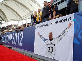 Die Fans in Amerika lieben David Beckham.