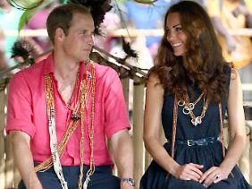 Williams und Kates Asien-Pazifik-Ausflug (hier ein Foto von den Salomonen) könnte etwas mit der Schwangerschaft zu tun haben.
