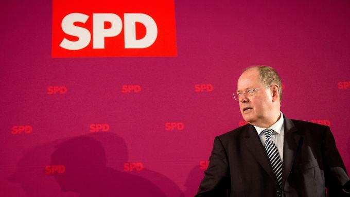 Peer Steinbrück hofft auf ein eindeutiges Ergebnis.