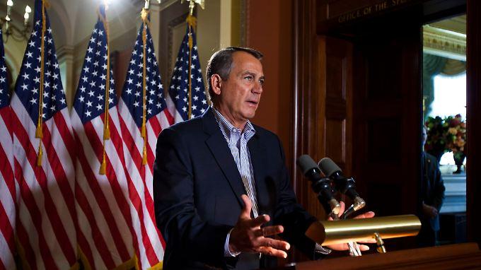 Zwischen Demokraten und Republikanern in den USA tobt ein erbitterter Haushaltsstreit. Der Republikaner Boehner gießt Öl ins Feuer.
