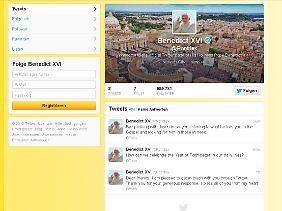 Der Beweis: Papst postet.
