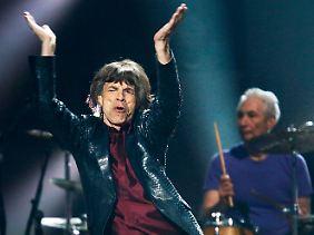 Die Altrocker von den Rolling Stones geben sich auch die Ehre. Sie feiern dieses Jahr ihr 50-jähriges Bandjubiläum.