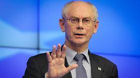 """Van Rompuy gibt erste Krisen-Entwarnung: """"Das Schlimmste liegt nun hinter uns"""""""