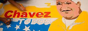 Die Anhängerschaft von Präsident Chavez ist groß.