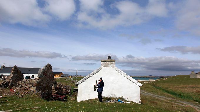 Auf der Insel Inishfree vor der Küste von Donegal.