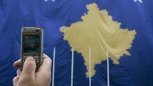 Die Flagge des Kosovo