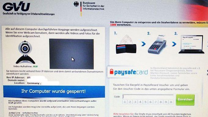Die Popups mit der Zahlungsaufforderung sehen täuschend echt aus und existieren in verschiedenen Varianten. (Screenshot von der Übersichts-Seite http://bka-trojaner.de/ )